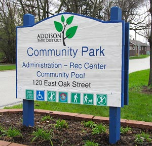 Community Park Sign