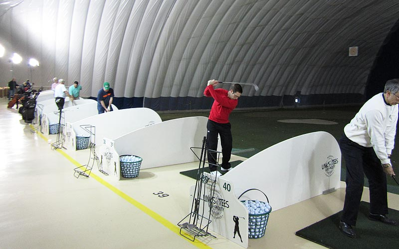Links & Tees Indoor Golf Dome.